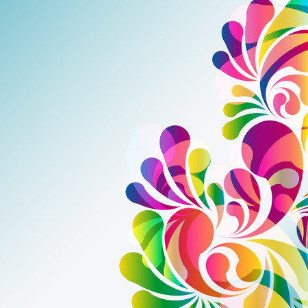 carnival background: Abstract colorful arc-drop background.