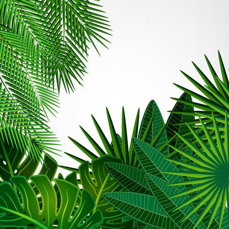 Tropische bladeren. Floral design achtergrond. Stock Illustratie