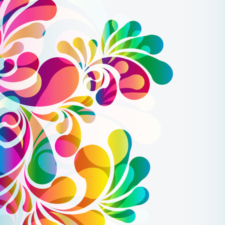 rainbow print: Abstract colorful arc-drop background.