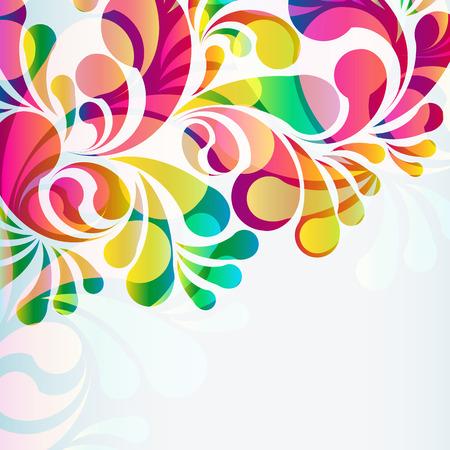 Abstracte kleurrijke arc-drop achtergrond. Vector.