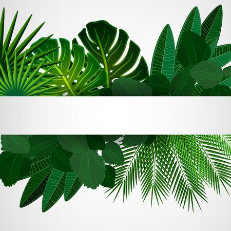 Tropische bladeren. Bloemen ontwerp achtergrond. Stock Illustratie
