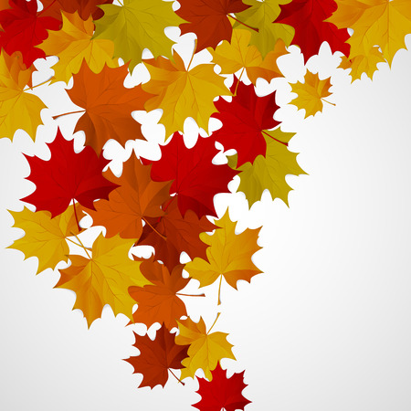 Abstract background with autumn colorful leaves. Ilustracja