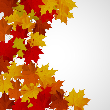 Abstract background with autumn colorful leaves. Illustration