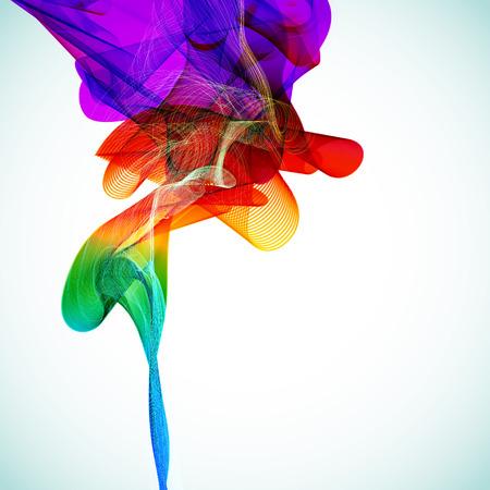 digital art: Multicolor abstract bright background. Elements for design. Eps10. Illustration