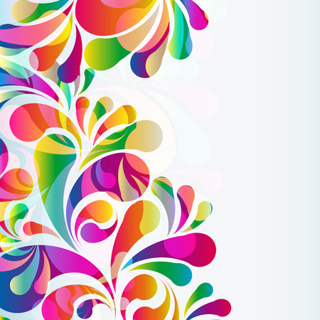 floral grunge: Abstract colorful arc-drop background. Vector.