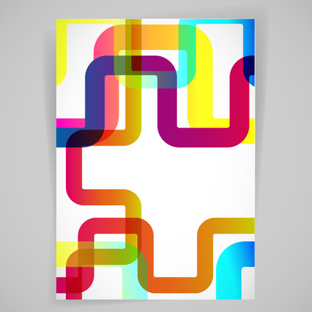 light backround: Abstract background with rounded design elements.
