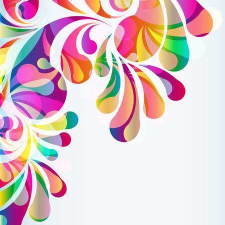 Abstracte kleurrijke boog-drop achtergrond. Vector.
