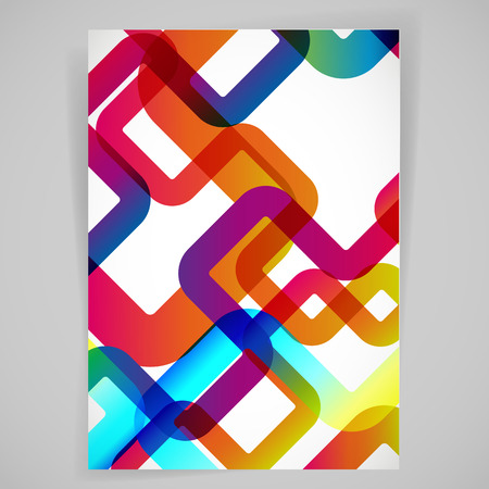 Abstract background with rounded design elements. Vector