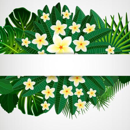 bali: Floral design background.  Illustration