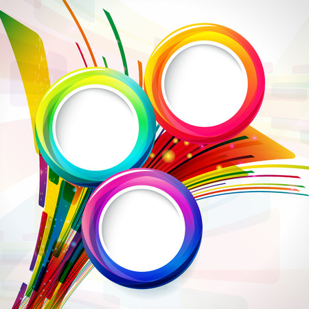 colour fan: abstract background with round frames. Illustration