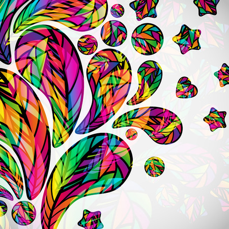 Abstract background with colorful mosaic design elements. Vector