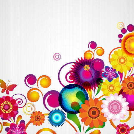 Gift Card. Bloemen ontwerp achtergrond. Stock Illustratie