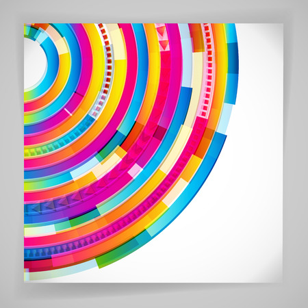 color image: Abstract digital circles vector background