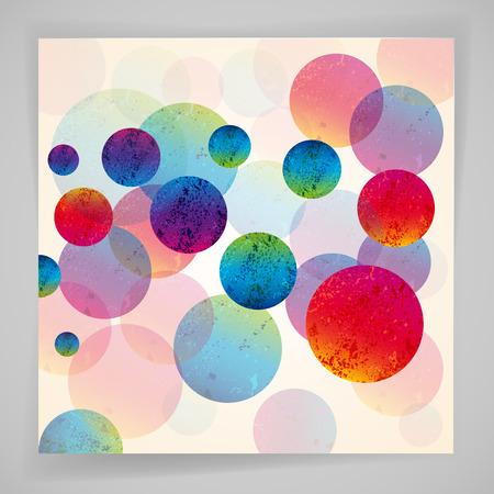 Multicolore abstrait lumineux. Cercles éléments de conception. Eps10.