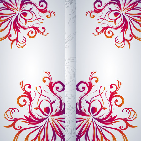 Abstract vector background with floral item. Vector