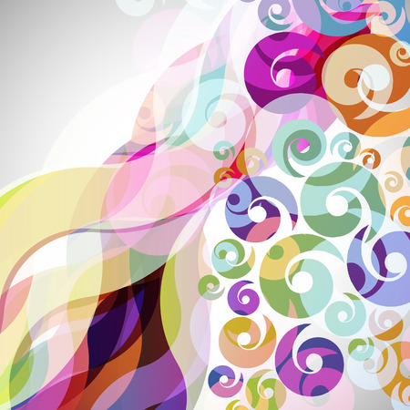 curve creative: abstract  background with design elements. vector