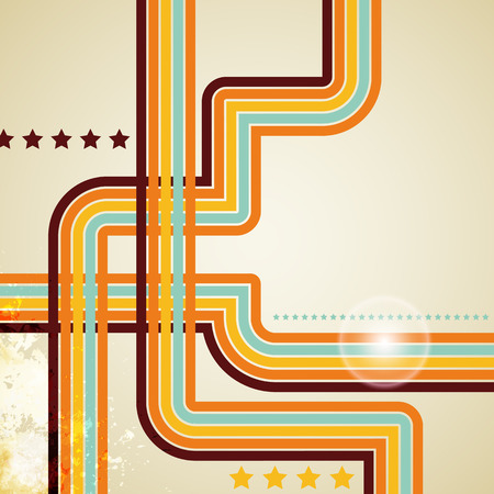 abstract vector retro lines background Illustration
