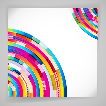 creative background: Abstract digital circles vector background