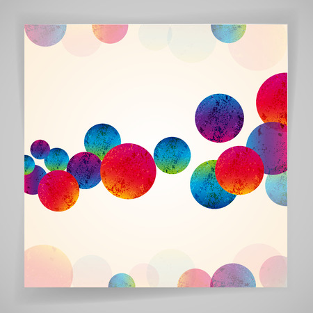 tails: Multicolor abstract bright background. Circles elements for design.