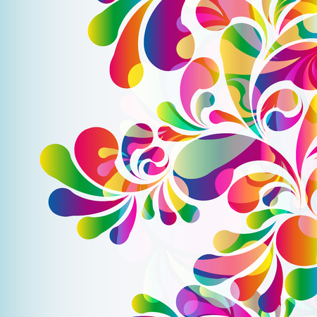splatter paint: Abstract colorful arc-drop background. Vector.