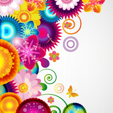 Gift festive floral design background. Stock Photo