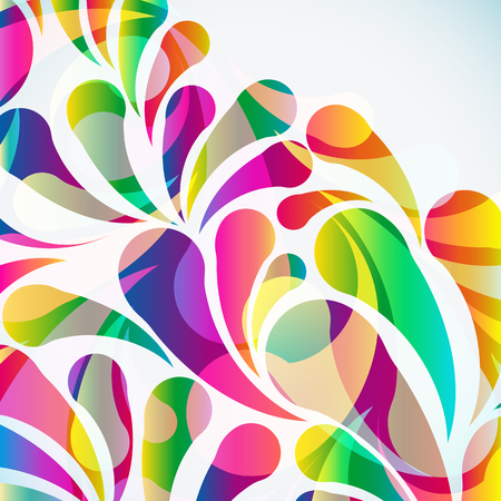 floral abstract: Abstract colorful arc-drop background. Vector.