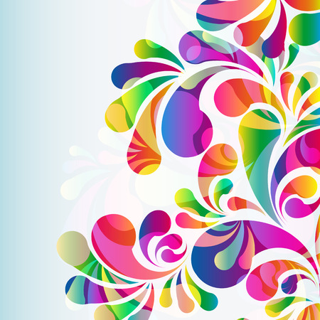 paint splash: Abstract colorful arc-drop background. Vector.