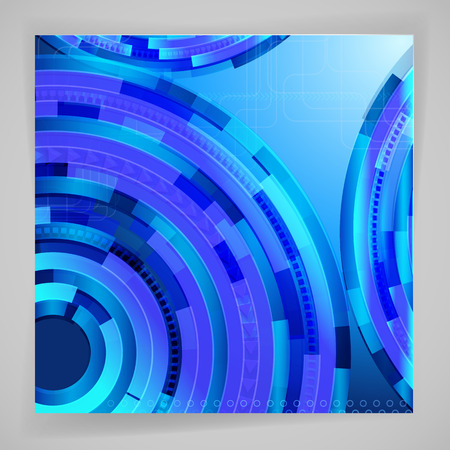 techno: Abstract blue background with techno elements.