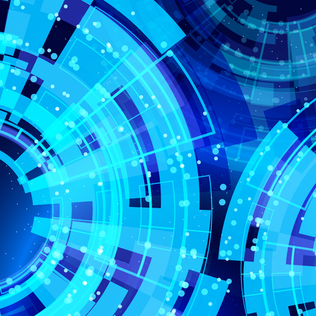 technology background: abstract glowing technology background. Illustration