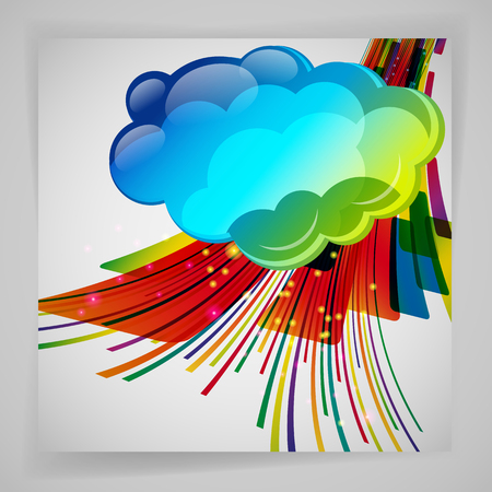 Abstract design: Abstract background with color design elements.