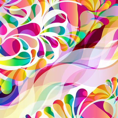 bright: Abstract colorful arc-drop background. Vector.