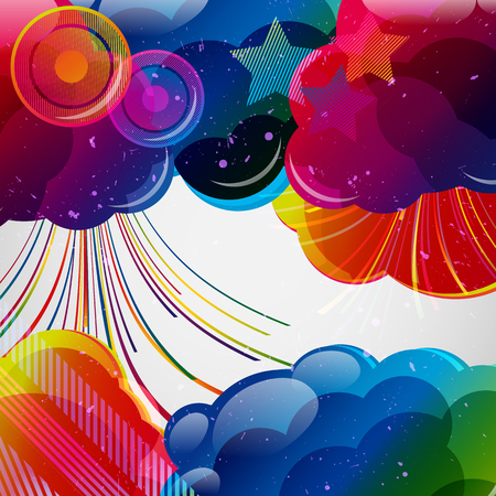 colorful: Abstract background with colorful elements.Vector illustration.