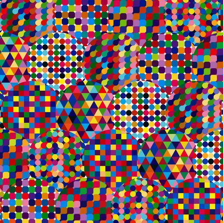 Fondo abstracto con elementos de diseño digital.
