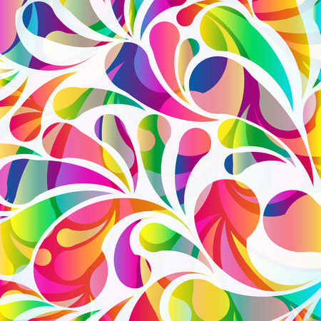 decorative wallpaper: Abstract colorful arc-drop background.