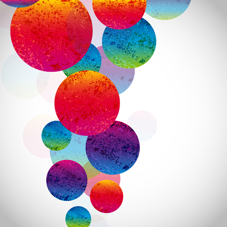 colour splash: Multicolor abstract bright background. Circles elements for design. Eps10.