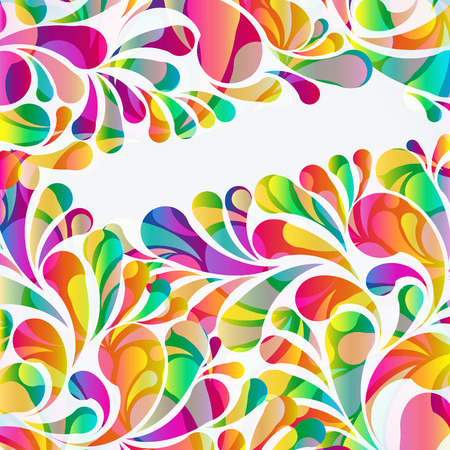 colorful abstract background: Abstract colorful arc-drop background. Vector.