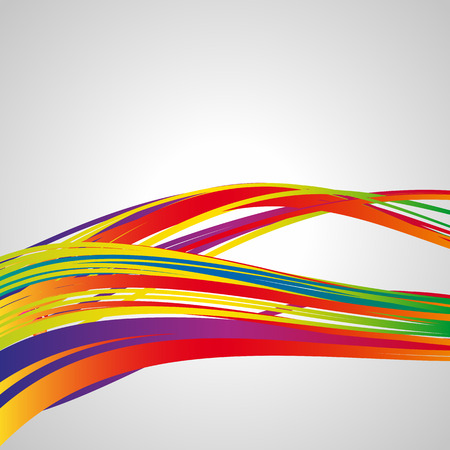 Waves lines. Multicolor abstract bright background. Elements for design. Eps10.