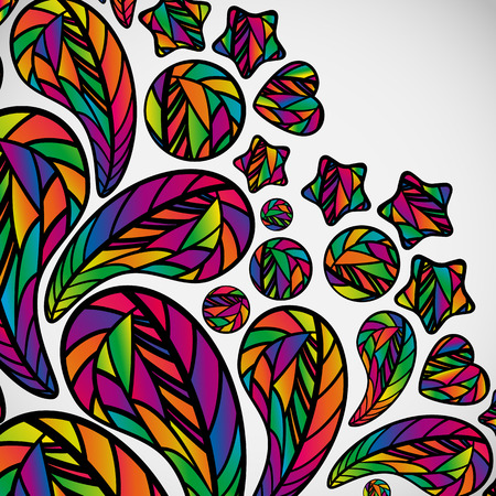 bright color: Abstract background with colorful design elements.
