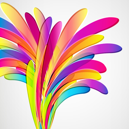 Abstract design: Splash. Multicolor abstract bright background. Elements for design. Eps10. Illustration
