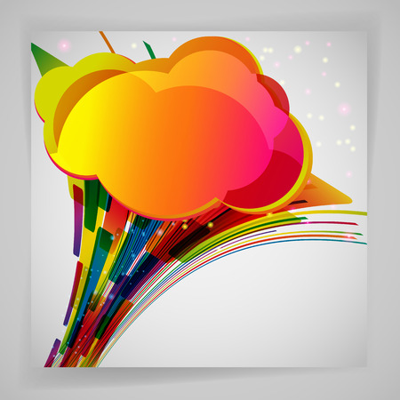 abstract design elements: Abstract background with color design elements.