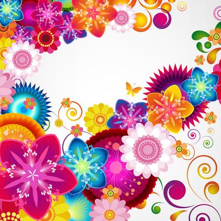 Gift festive floral design background. Illustration