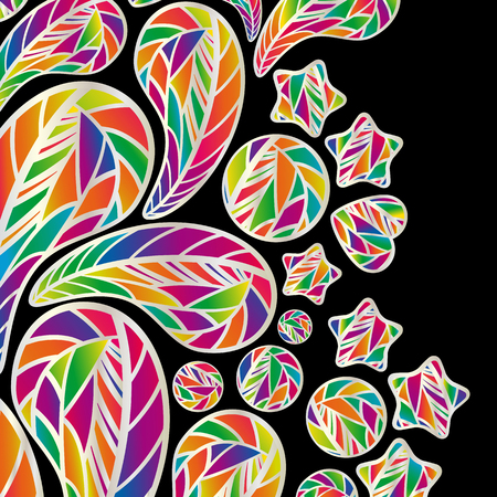 abstract design elements: Abstract background with colorful design elements.