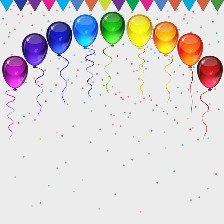 Birthday Party Vector Background Realistic Transparency Colorful