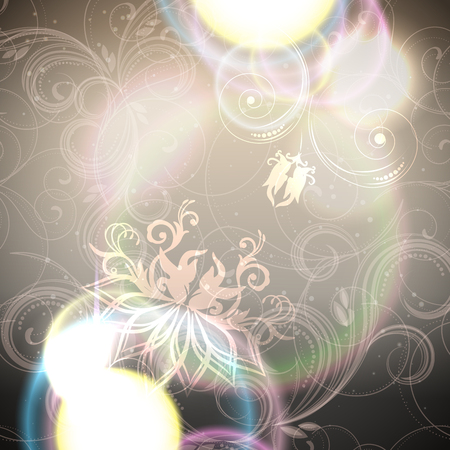 mistic: Abstract floral background with shine, glow blur, elegant design, illustration.