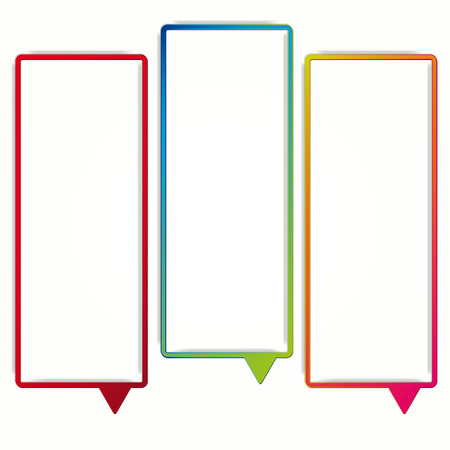 empty frame: Colorful speech bubble frames on a white background. labels in the form of an empty frame for your text.