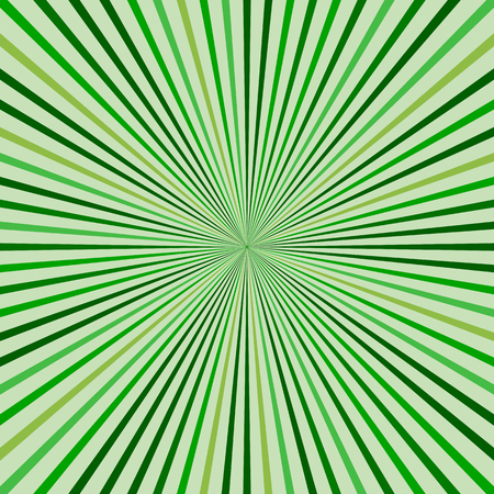 abstract: Abstract retro rays green background.