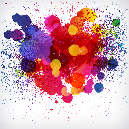 Holi colorful vector abstract background. Ethnicity graphic paint powder festival paint. Illustration