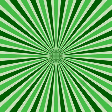 Abstract retro rays green background.