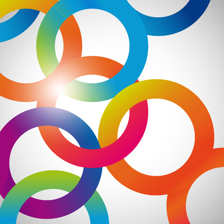abstract: Rainbow loops, vector abstract background, design shape.