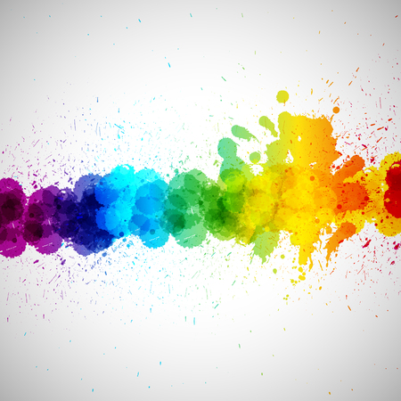 Holi vectorachtergrond, abstracte kleurrijke plonsverfvlekken. Heldere vlekken en vlekken voor vakantie ontwerp poster, kaart, banner, enz.